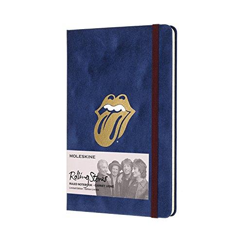 Rolling Stones Grand Format Velours Bleu