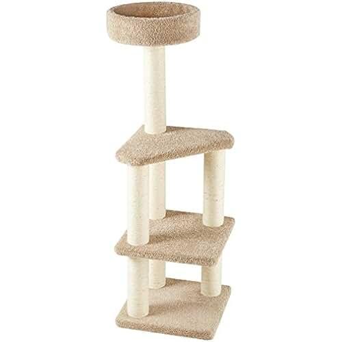 regalos kawaii gato AmazonBasics - Árbol de actividades con poste rascador para gatos, grande