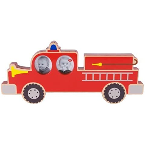 Present Time J.I.P. Wicked Wheels Fire Truck Photo Frame by Present Time co