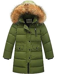 Wulide Kinder Mädchen Daunenjacken Winterjacke Daunenmantel mit Kapuze