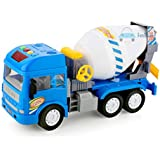 FunBlast Pull Back Vehicles Construction Truck, Friction Power Toy Trucks for 3+ Years Old Boys and Girls, Light & Sound Toy