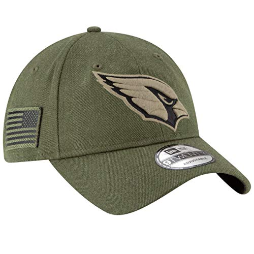 New Era Arizona Cardinals 9twenty Adjustable Cap On Field 2018 Salute to Service Green - One-Size