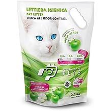 Superior 6 Sacchi Professional Pets Lettiera Igienica Mela Verde 5,8 Lt   Lettiera  Al Silicio