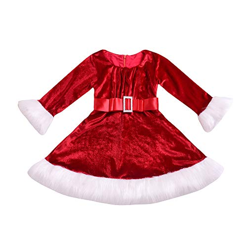 Beikoard Kleinkind Kinder Baby Weihnachten Red Princess Dress -