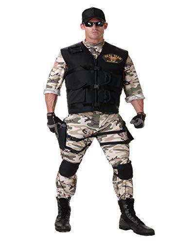 Horror-Shop 6-TLG. Navy Seal Kostüm-Anzug für Fasching & Halloween | XL/XXL