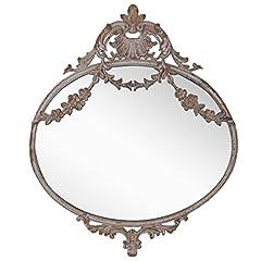 Idea Regalo - NIKKY HOME 26.5CM Specchio da Parete in Metallo Vintage a Sospensione Vecchio Stile per la Decorazione Domestica