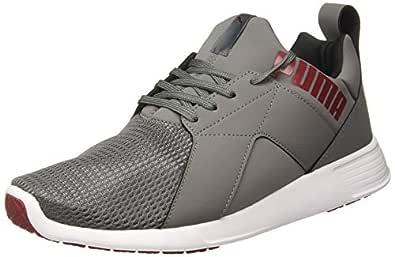 Puma Men's Zod Runner NM IDP Castlerock-Pomegranate White Black Sneakers-6 UK (39 EU) (7 US) (37079006)
