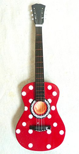 Decorazione in miniatura accustic Mini chitarra chitarra decorazione handmade in legno 24N. 112