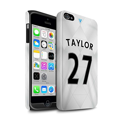 Offiziell Newcastle United FC Hülle / Glanz Harten Stoßfest Case für Apple iPhone 4/4S / Pack 29pcs Muster / NUFC Trikot Away 15/16 Kollektion Taylor