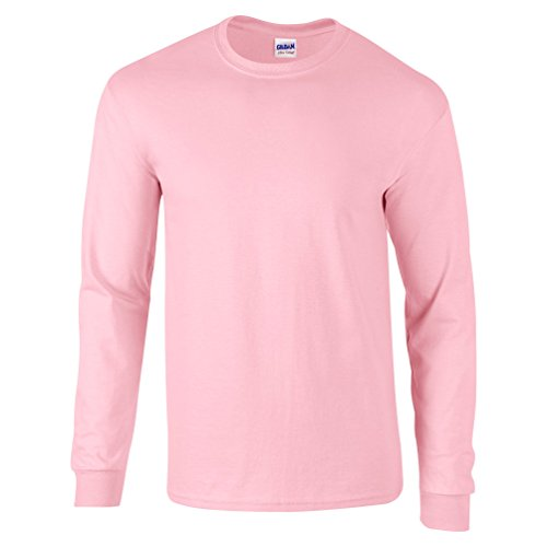 Ultra Cotton Classic Fit Adult T-Shirt - Farbe: Light Pink - Größe: L (Pink Baseball Tee)