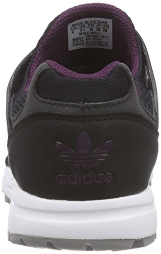 adidas Originals Racer Lite, Baskets Basses Mixte Adulte Noir - Schwarz (Core Black / Core Black / Merlot)