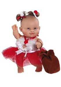 Paola Reina - Irina, muñeca de Vinilo, Vestido en Papá Noel 22 cm (01134)