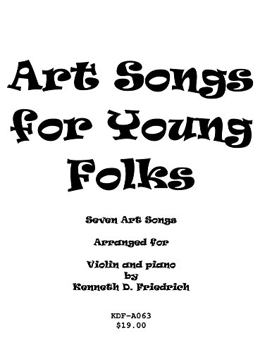 Art Songs for Young Folks - violin and piano (English Edition)