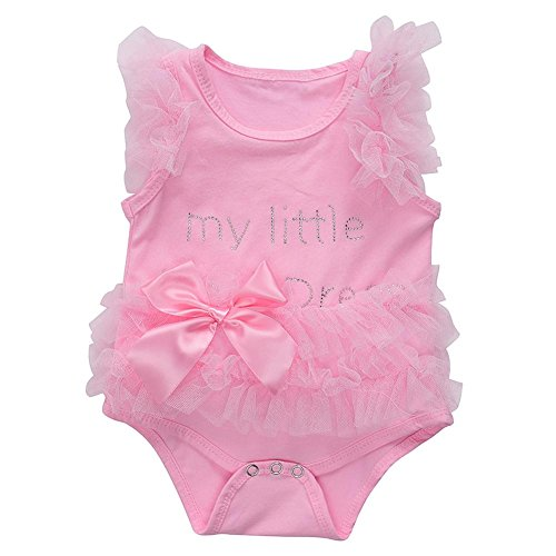Occitop Baby Girls Letters Sleeveless Dress Romper Jumpsuit O-Neck Gauze Clothes