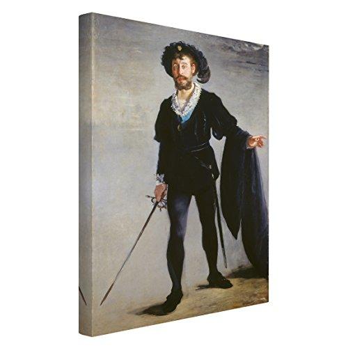 Bilderwelten Leinwandbild Edouard Manet - Jean-Baptiste Faure in der Rolle von Hamlet - Hochformat 3:2 Leinwandbild Leinwandbild XXL Leinwanddruck Abmessung HxB: 120cm x 80cm x 2cm