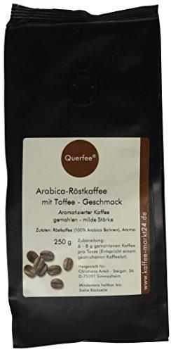 Querfee Kaffee mit Geschmack - Toffee - Arabica Röstkaffee - gemahlen - 250 g, 1er Pack (1 x 250 g)
