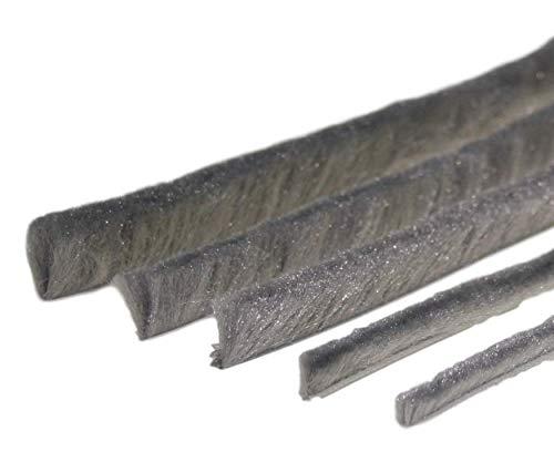 Bürstendichtung Meterware grau von 5 bis 25mm Bürsten alle Größen Insektenschutz Fliegengitter Rolladen (4,8mm Fuß, 20mm)