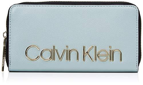 Calvin Klein Damen Ck Must Lrg Ziparound Geldbörse, Grau (Fern), 2x10x19 cm