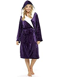 25320e1e60171 CityComfort Luxury Ladies Dressing Gown Soft Plush Bath Robe for Women  Housecoat Loungewear Bathrobe