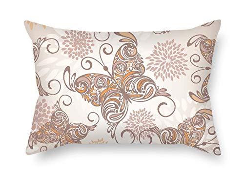 Pavot couvertures d'oreiller de papillon pour chaise longue anniversaire enfants filles garçons Chaise longue 50,8 x 76,2 cm/50 par 75 cm (chaque côté)