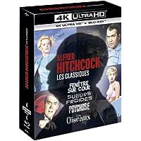 Alfred Hitchcock, Les Classiques-Coffret : Fenêtre sur Cour + Sueurs Froides + Psychose + Les Oiseaux [4K Ultra HD