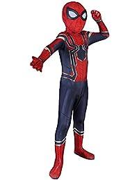 Morph33 Traje de Cosplay de Spiderman, Avengers Iron Spiderman, Niño, Adulto, Disfraz, Fiesta, Leotardo, Película, Fiesta, Accesorios…