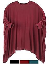 adonia mode Damen Shirt Großer Freesize Überwurf Lagenlook Gr.52 54 56 58 60 62 64 66