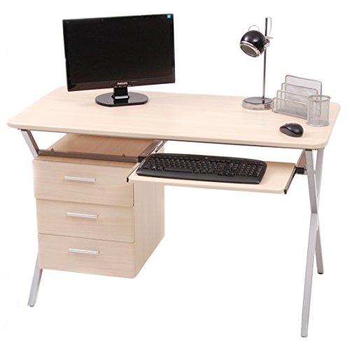 My_office Folder Schreibtisch, Stahl/MDF, Ahorn, 120x 60x 76cm