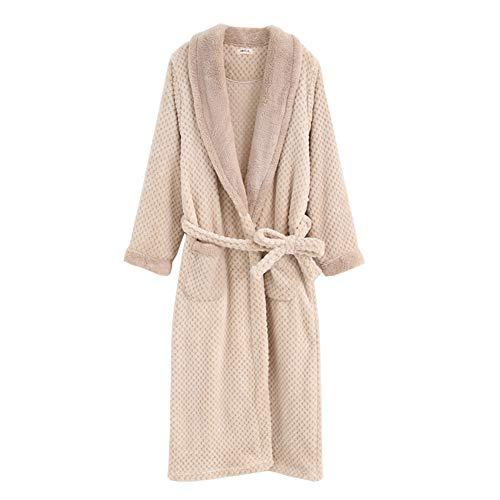 Pijamas Terciopelo Terciopelo túnica Larga Gruesa