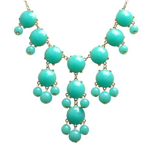 jane-stone-bubble-blu-lago-dorato-collana-turchese-verde-statement-jewelry