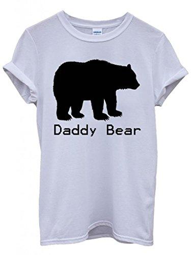 Daddy Bear Christmas Cool Funny Hipster Swag White Weiß Damen Herren Men Women Unisex Top T-Shirt Weiß