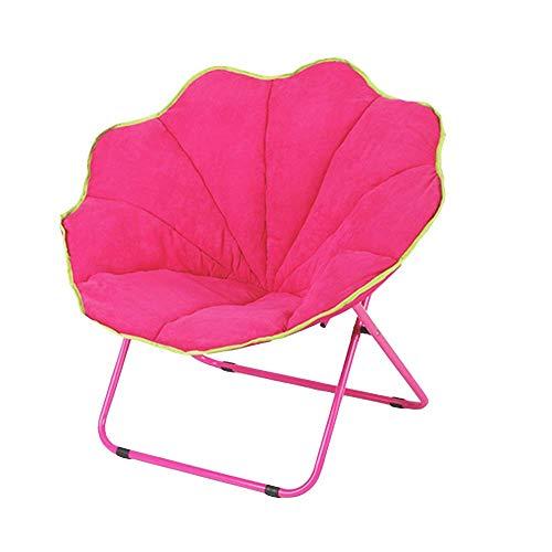 ACZZ Liegestuhl Lounge Chair Sonnenliege - Lazy Chair Klappstuhl runder Stuhl Freizeit Sofa Chair Recliner Klappstuhl Dick Bequem 4 Farbe Optional 71 * 61 * 76Cm (28 * 24 * 29.9 Zoll),Rosa -