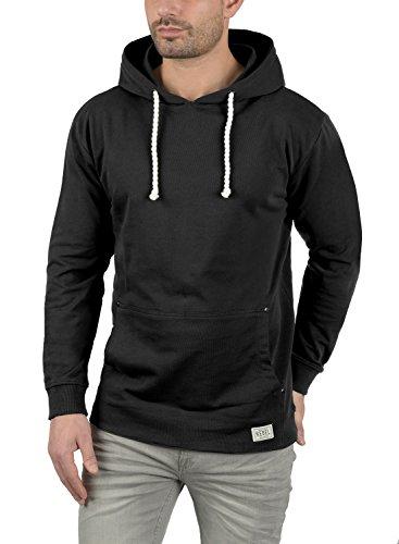 REDEFINED REBEL Morgan Herren Kapuzenpullover Hoodie Sweatshirt aus 100% Baumwolle Black