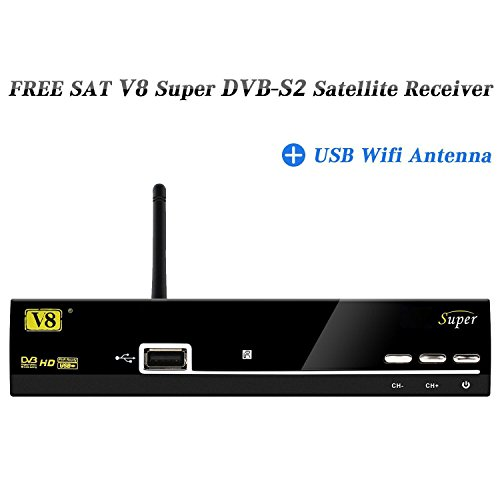 GTMedia V8 Super DVB-S2 Receiver Set Top box Support Powervu Biss Key 1080P HD DVB-S2 Satellite Receiver + USB Wifi Antenna
