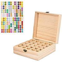 Holz-Aufbewahrungsbox für ätherische Öle, 25 Schlitze, für 5 ml/10 ml/15 ml-Flaschen, perfekt für die Aufbewahrung... preisvergleich bei billige-tabletten.eu