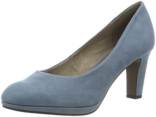 Tamaris Damen 22420 Pumps, Blau (Denim 802), 38 EU