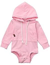 Mono bebe, Dragon868 Bebé recién nacido con capucha mameluco ropa