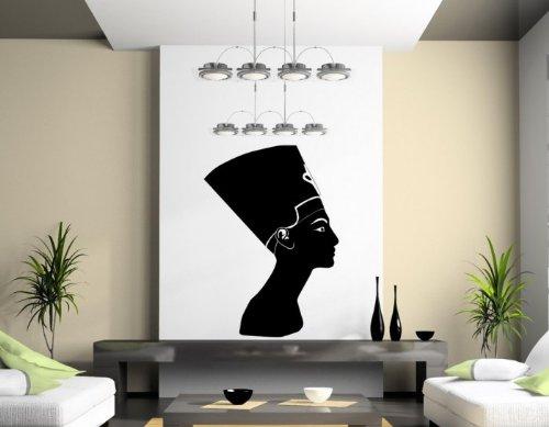 te-Ägyptische Königin-Amazing Wandtattoo, schwarz, Medium: 45cm x 65cm ()