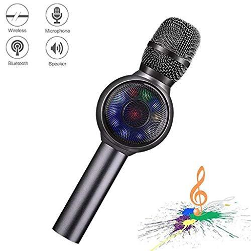 YAXIAO Mikrofon Drahtloses Bluetooth-Karaoke-Mikrofon, tragbarer 3-in-1-Handheld-Mikrofon-Maschinenspieler Mikrofon