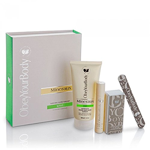 Obey Your Body Original Dead Sea Hand Perfection Nail Care Kit Kiwi Fragrance -