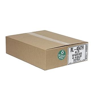 Aluf Plastics RL-4047H T-Tough Roll pack Low Density Repro Blend Star Seal Coreless Rolls Bag, 45 Gallon Capacity, 46
