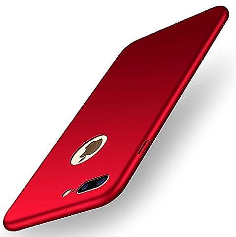 iphone 7/7plus Coque Pacyer® Nouveau Ultra Slim Légère Case Cover Back Shell Bumper para Apple iphone 7/7plus (iphone7, Rouge)