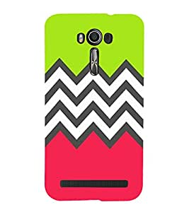 printtech Abstract Design zigzag Back Case Cover for Asus Zenfone Go::Asus Zenfone Go ZC500TG