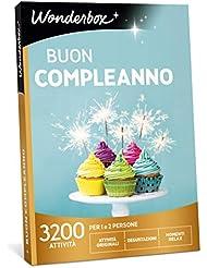 WONDERBOX Cofanetto Regalo Compleanno- Buon Compleanno - 3200 attività per 1 O 2 Persone