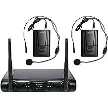VHF de doble micrófono inalámbrico, 166x30x125 mm - KARMA SET 6082LAV-A