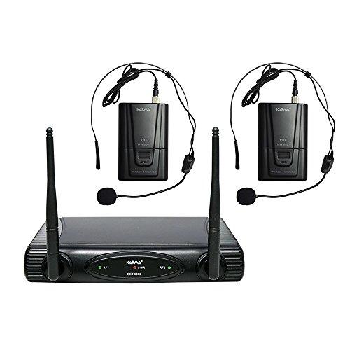 Karma - Set 6082LAV-A, Doppio Radiomicrofono VHF,  Base...