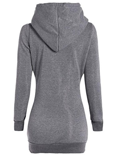 Winwintom Mode Femmes Loose Pullover T Shirt Blouse à manches longues Gary