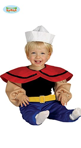 Baby Seemann - Kostüm für Kinder Gr. 86 - 98, Größe:92/98 (Popeye Halloween-kostüm)