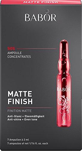 BABOR AMPOULE CONCENTRATES Matte Finish, Gesichtspflege für großporige Mischhaut, mattierendes Fluid mit Harz-Extrakt für fettige Haut, 7...