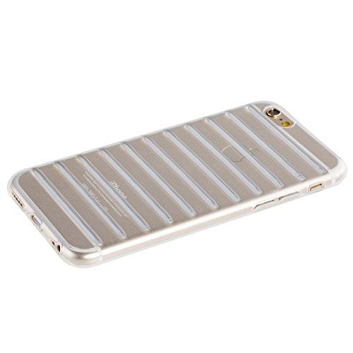 Etsue Coque pour Apple iPhone 6 Plus/6S Plus 5.5,Etui Ultra Mince Housse Silicone Transparent pour Apple iPhone 6 Plus/6S Plus 5.5, Coloré Ondulation Design Doux Case pour Apple iPhone 6 Plus/6S Plus  Transparente